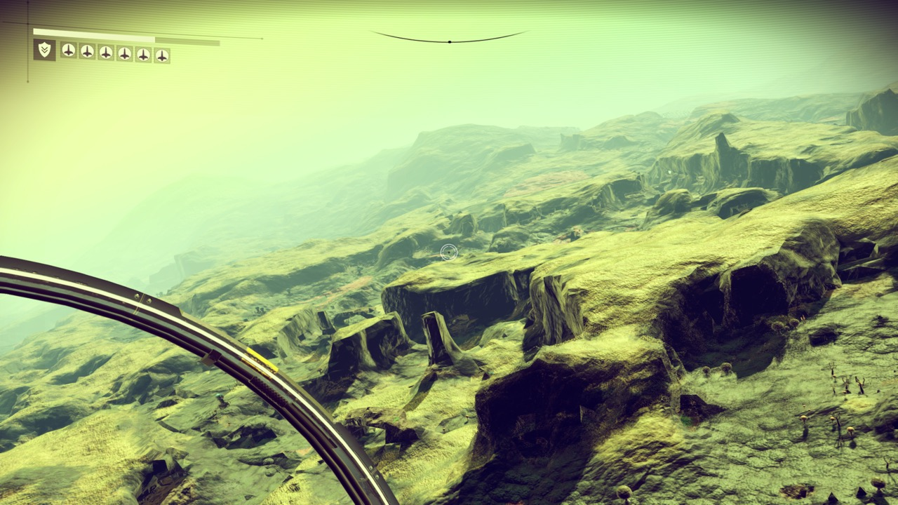 Craggy world in NMS