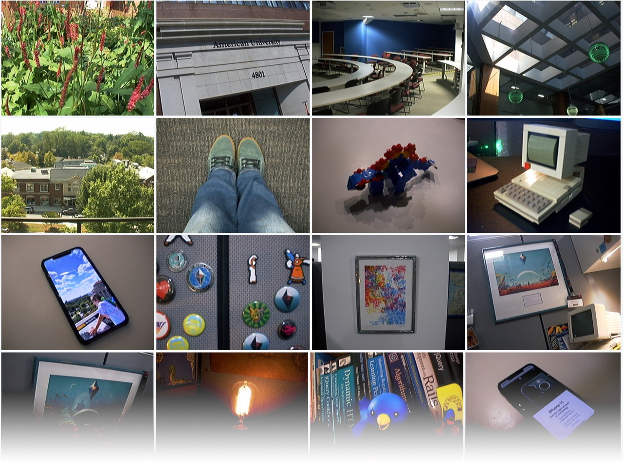 preview grid of photos taken by QuickTake 200